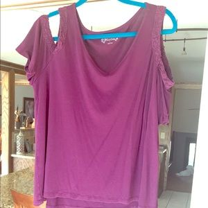 Mudd Top with Cut-Out Shoulders